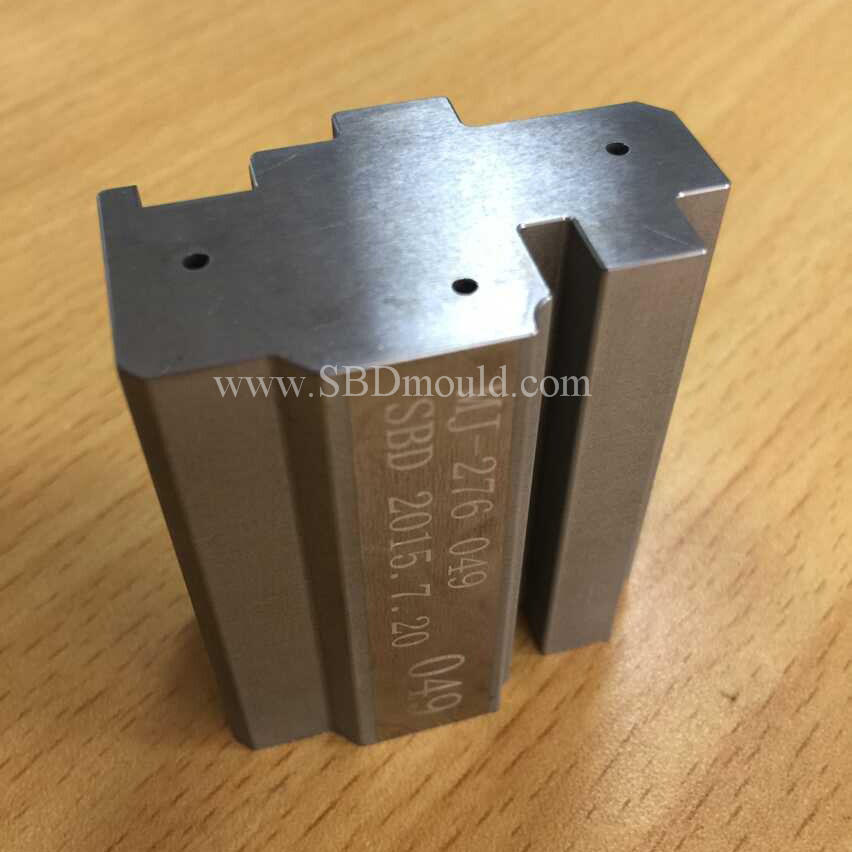 Wire EDM machined high precision male die and female die parts