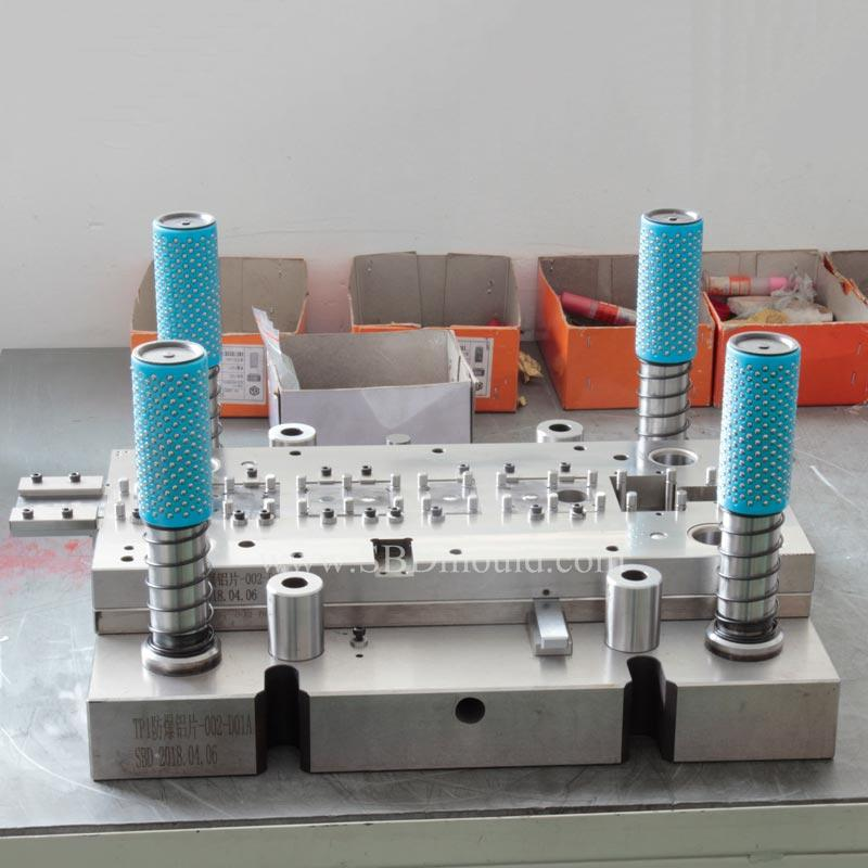 Stamping mould of anti-explore parts used in new energy battery
